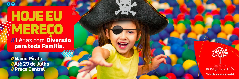 Navio Pirata é atração para todas as idades no Shopping Bosque dos Ipês