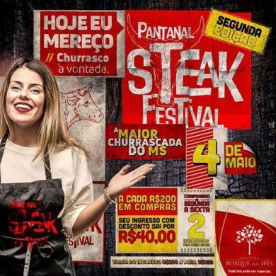 Com churrasco à vontade, 2ª edição do Pantanal Steak Festival acontece no dia 4 de maio