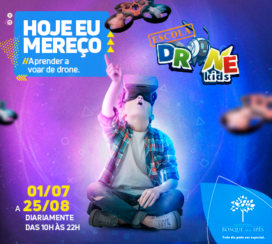 Primeira escola de drone indoor do país estreia no Shopping Bosque dos Ipês