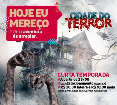 Cidade do Terror promete noites assustadoras no Shopping Bosque dos Ipês