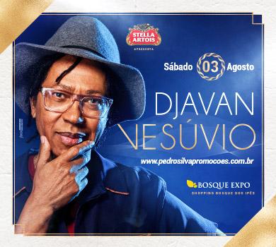 """Campo Grande recebe Djavan com a turnê nacional de """"Vesúvio"""" no Bosque Expo"""