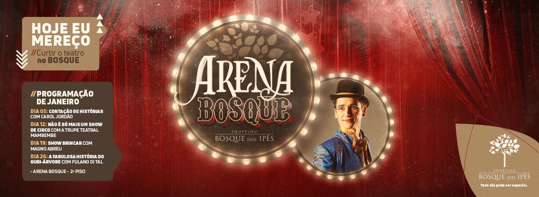 Teatro Arena Bosque volta com novas apresentações gratuitas em 2020