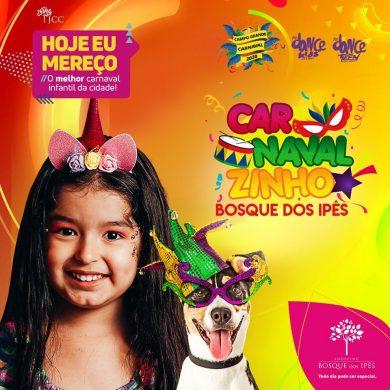 Bosque dos Ipês tem diversão garantida para a criançada no Carnaval