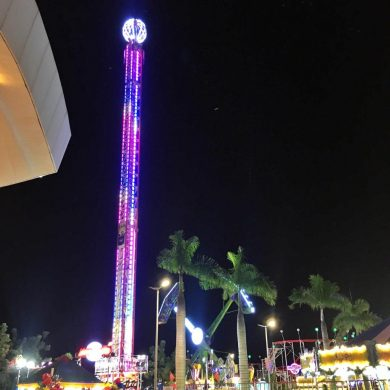 Torre com queda livre de 40 metros é a nova atração do Bosque dos Ipês